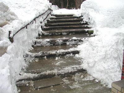 裏五頭山荘の階段